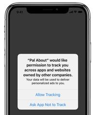 Nuevo aviso de las aplicaciones para recopilar datos.